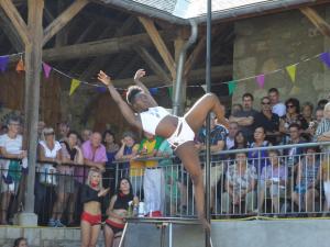 "Démonstration de pole dance avec ""Brasil Butterfly Studio"""